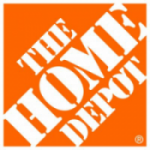 The Home Depot logo in orange and white text