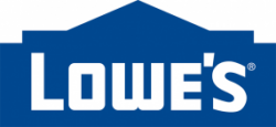 Lowe's logo in blue with white text